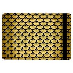 Scales3 Black Marble & Gold Brushed Metal (r) Apple Ipad Air Flip Case by trendistuff