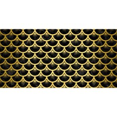Scales3 Black Marble & Gold Brushed Metal You Are Invited 3d Greeting Card (8x4)