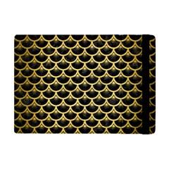 Scales3 Black Marble & Gold Brushed Metal Apple Ipad Mini Flip Case by trendistuff