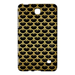 Scales3 Black Marble & Gold Brushed Metal Samsung Galaxy Tab 4 (8 ) Hardshell Case  by trendistuff