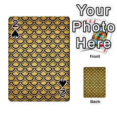 Scales2 Black Marble & Gold Brushed Metal (r) Playing Cards 54 Designs