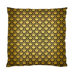Scales2 Black Marble & Gold Brushed Metal (r) Standard Cushion Case (two Sides) by trendistuff