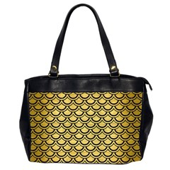Scales2 Black Marble & Gold Brushed Metal (r) Oversize Office Handbag (2 Sides) by trendistuff