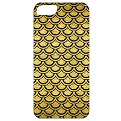 Scales2 Black Marble & Gold Brushed Metal (r) Apple Iphone 5 Classic Hardshell Case by trendistuff