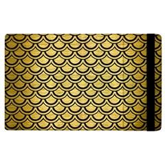 Scales2 Black Marble & Gold Brushed Metal (r) Apple Ipad 3/4 Flip Case by trendistuff