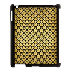 Scales2 Black Marble & Gold Brushed Metal (r) Apple Ipad 3/4 Case (black) by trendistuff