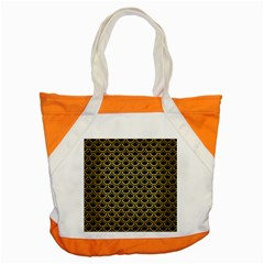 Scales2 Black Marble & Gold Brushed Metal Accent Tote Bag by trendistuff