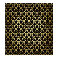 Scales2 Black Marble & Gold Brushed Metal Shower Curtain 66  X 72  (large) by trendistuff