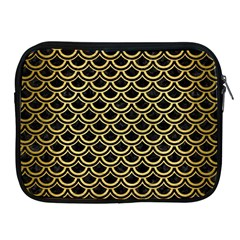 Scales2 Black Marble & Gold Brushed Metal Apple Ipad Zipper Case by trendistuff