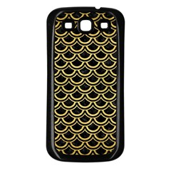Scales2 Black Marble & Gold Brushed Metal Samsung Galaxy S3 Back Case (black) by trendistuff