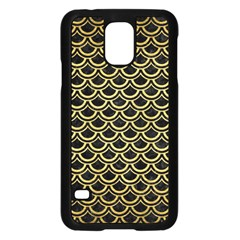 Scales2 Black Marble & Gold Brushed Metal Samsung Galaxy S5 Case (black) by trendistuff