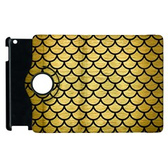 Scales1 Black Marble & Gold Brushed Metal (r) Apple Ipad 2 Flip 360 Case by trendistuff