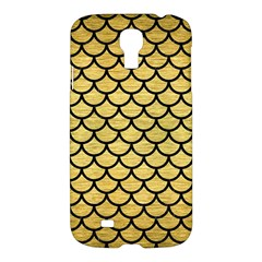 Scales1 Black Marble & Gold Brushed Metal (r) Samsung Galaxy S4 I9500/i9505 Hardshell Case by trendistuff