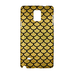 Scales1 Black Marble & Gold Brushed Metal (r) Samsung Galaxy Note 4 Hardshell Case by trendistuff