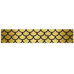 Scales1 Black Marble & Gold Brushed Metal (r) Flano Scarf (large) by trendistuff