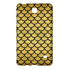 Scales1 Black Marble & Gold Brushed Metal (r) Samsung Galaxy Tab 4 (7 ) Hardshell Case