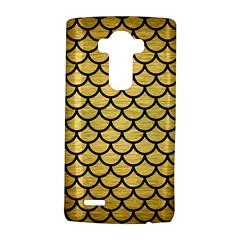 Scales1 Black Marble & Gold Brushed Metal (r) Lg G4 Hardshell Case