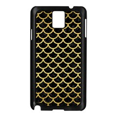 Scales1 Black Marble & Gold Brushed Metal Samsung Galaxy Note 3 N9005 Case (black) by trendistuff