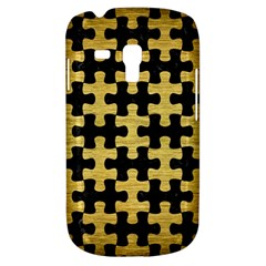 Puzzle1 Black Marble & Gold Brushed Metal Samsung Galaxy S3 Mini I8190 Hardshell Case by trendistuff