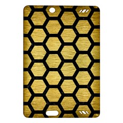 Hexagon2 Black Marble & Gold Brushed Metal (r) Amazon Kindle Fire Hd (2013) Hardshell Case by trendistuff