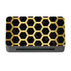 Hexagon2 Black Marble & Gold Brushed Metal Memory Card Reader With Cf by trendistuff