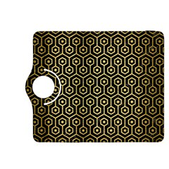 Hexagon1 Black Marble & Gold Brushed Metal Kindle Fire Hdx 8 9  Flip 360 Case by trendistuff