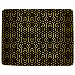 Hexagon1 Black Marble & Gold Brushed Metal Jigsaw Puzzle Photo Stand (rectangular) by trendistuff