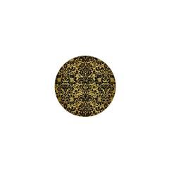 Damask2 Black Marble & Gold Brushed Metal (r) 1  Mini Magnet by trendistuff