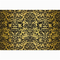 Damask2 Black Marble & Gold Brushed Metal (r) Collage 12  X 18  by trendistuff