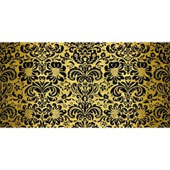 Damask2 Black Marble & Gold Brushed Metal (r) You Are Invited 3d Greeting Card (8x4) by trendistuff