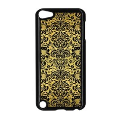 Damask2 Black Marble & Gold Brushed Metal (r) Apple Ipod Touch 5 Case (black) by trendistuff
