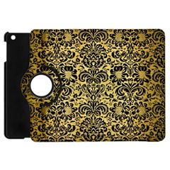 Damask2 Black Marble & Gold Brushed Metal (r) Apple Ipad Mini Flip 360 Case by trendistuff