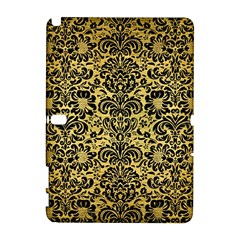 Damask2 Black Marble & Gold Brushed Metal (r) Samsung Galaxy Note 10 1 (p600) Hardshell Case by trendistuff