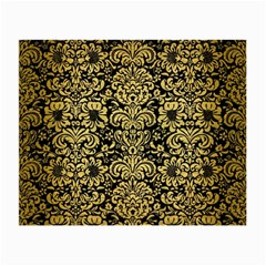 Damask2 Black Marble & Gold Brushed Metal Small Glasses Cloth by trendistuff