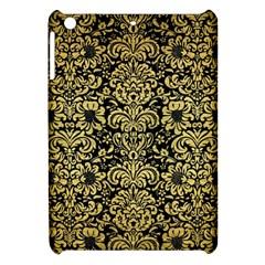 Damask2 Black Marble & Gold Brushed Metal Apple Ipad Mini Hardshell Case by trendistuff