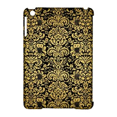 Damask2 Black Marble & Gold Brushed Metal Apple Ipad Mini Hardshell Case (compatible With Smart Cover) by trendistuff