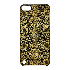 Damask2 Black Marble & Gold Brushed Metal Apple Ipod Touch 5 Hardshell Case With Stand by trendistuff