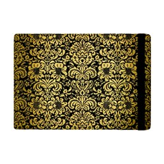 Damask2 Black Marble & Gold Brushed Metal Apple Ipad Mini 2 Flip Case by trendistuff