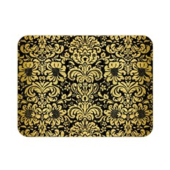Damask2 Black Marble & Gold Brushed Metal Double Sided Flano Blanket (mini) by trendistuff
