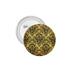 Damask1 Black Marble & Gold Brushed Metal (r) 1 75  Button by trendistuff