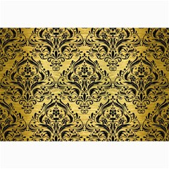 Damask1 Black Marble & Gold Brushed Metal (r) Collage 12  X 18