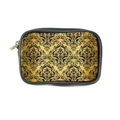 Damask1 Black Marble & Gold Brushed Metal (r) Coin Purse by trendistuff