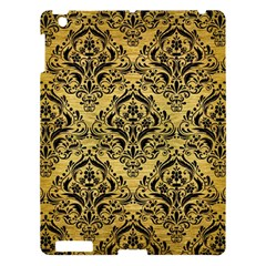 Damask1 Black Marble & Gold Brushed Metal (r) Apple Ipad 3/4 Hardshell Case by trendistuff