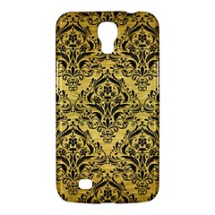 Damask1 Black Marble & Gold Brushed Metal (r) Samsung Galaxy Mega 6 3  I9200 Hardshell Case by trendistuff