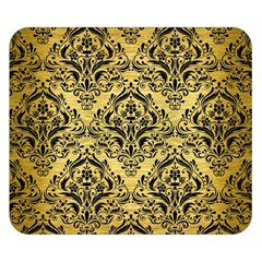 Damask1 Black Marble & Gold Brushed Metal (r) Double Sided Flano Blanket (small) by trendistuff