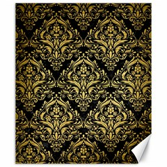 Damask1 Black Marble & Gold Brushed Metal Canvas 20  X 24  by trendistuff