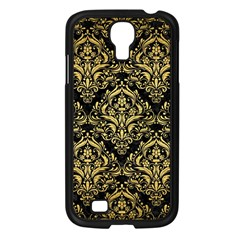 Damask1 Black Marble & Gold Brushed Metal Samsung Galaxy S4 I9500/ I9505 Case (black) by trendistuff