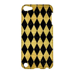 Diamond1 Black Marble & Gold Brushed Metal Apple Ipod Touch 5 Hardshell Case by trendistuff
