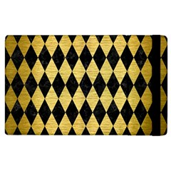 Diamond1 Black Marble & Gold Brushed Metal Apple Ipad 2 Flip Case by trendistuff