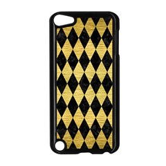 Diamond1 Black Marble & Gold Brushed Metal Apple Ipod Touch 5 Case (black) by trendistuff